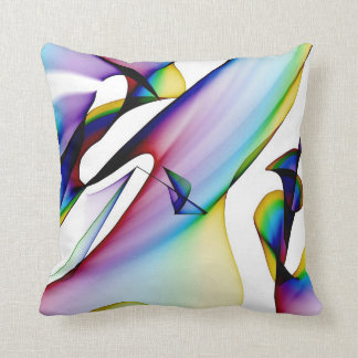Light blue Two sided Abstract Pillow Designs
