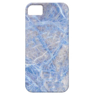 Light Blue Veined Grey Marble Case For The iPhone 5