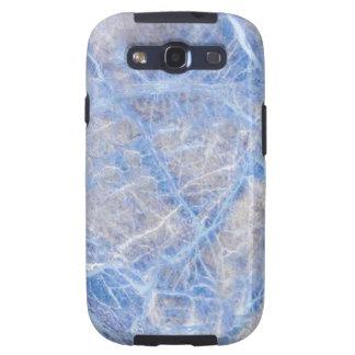 Light Blue Veined Grey Marble Galaxy S3 Case