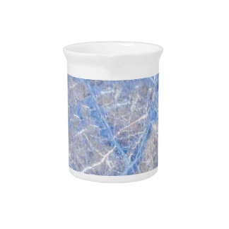 Light Blue Veined Grey Marble Pitcher