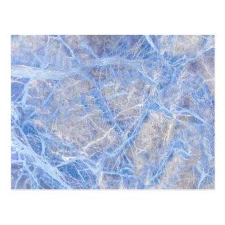 Light Blue Veined Grey Marble Postcard