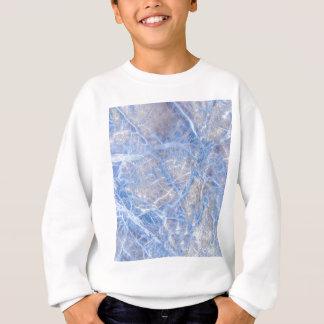 Light Blue Veined Grey Marble Sweatshirt