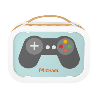 Light Blue Video Game Controller Lunch Box
