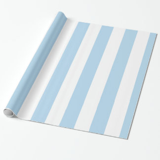 Light Blue White Extra Large Stripe Pattern