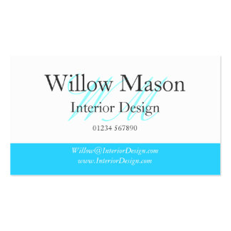 Light Blue & White Professional Business Card