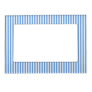 Light Blue & White Sailor Stripes Picture Frame Magnetic Photo Frame