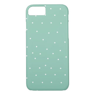 Light Blue with White Polkadots iPhone Case