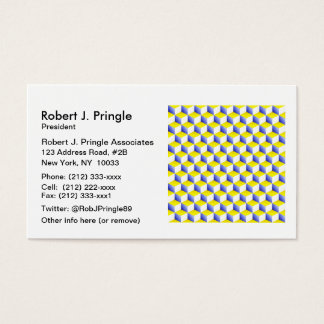 Light Blue Yellow White Shaded 3D Look Cubes
