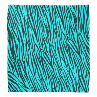 Light Blue Zebra Animal Print Bandana
