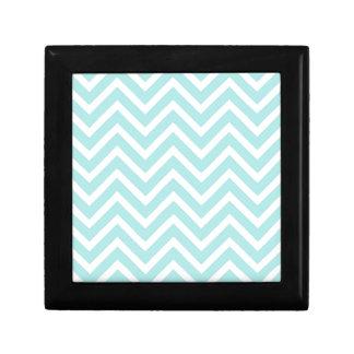 Light blue Zigzag pattern Gift Box