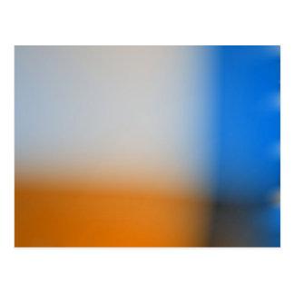 Light blur blue and brown design postcard