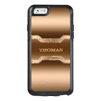 Light Brown And Gold Brushed Metal Look OtterBox iPhone 6/6s Case