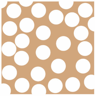 Light Brown and White Spot Pattern. Photo Sculpture Magnet