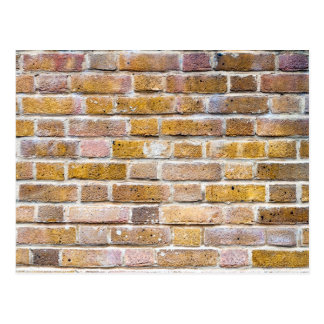 Light Brown Brick Wall Postcard