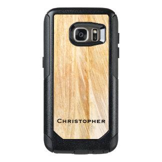 Light Brown Faux Stone OtterBox Commuter Galaxy S7 OtterBox Samsung Galaxy S7 Case