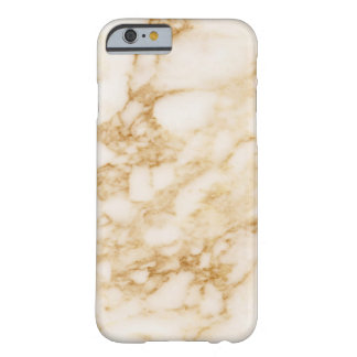 Light Brown Marble Barely There iPhone 6 Case