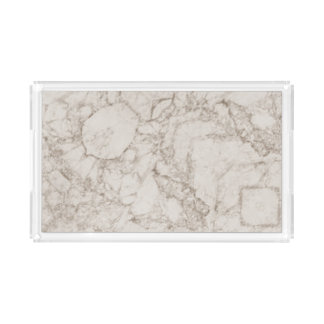 Light Brown Marble Look Acrylic Tray
