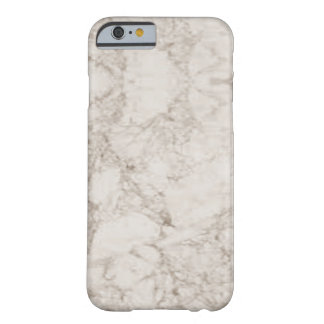 Light Brown Marble Look Barely There iPhone 6 Case