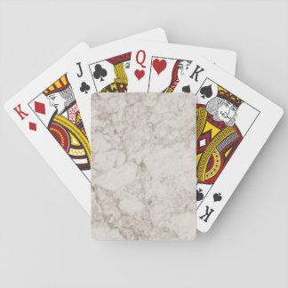 Light Brown Marble Look Poker Deck