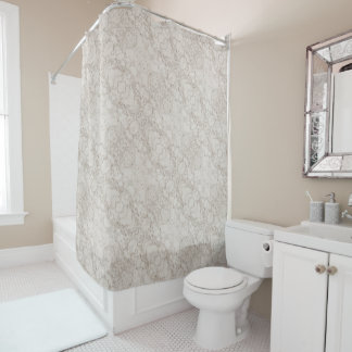Light Brown Marble Look Shower Curtain