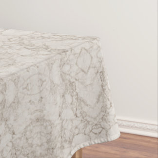 Light Brown Marble Look Tablecloth