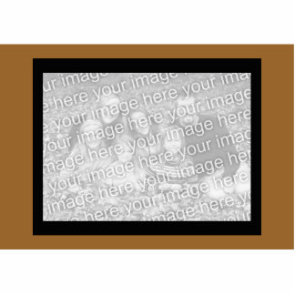 light brown photoframe cut out