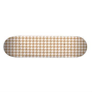 Light Brown Tan Houndstooth Skateboard