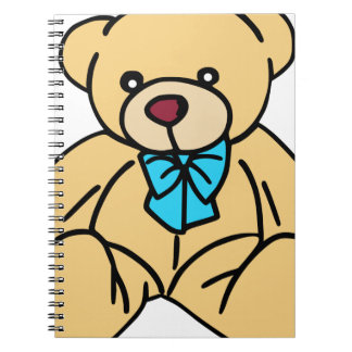 Light Brown Traditional Teddy Bear Spiral Note Books