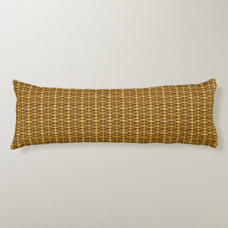 Light Brown Wicker Look Body Pillow