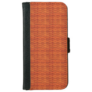 Light Brown Wicker Look iPhone 6 Wallet Case