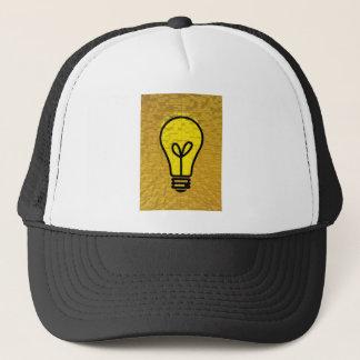 light bulb  art trucker hat