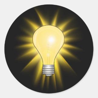 Light Bulb - Bright Idea Round Sticker