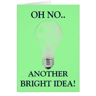 LIGHT BULB CARD