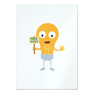 light bulb free hugs happy Zggq6 Card