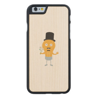 light bulb groom with flowers Z4686 Carved Maple iPhone 6 Case