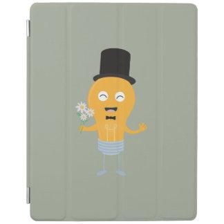 light bulb groom with flowers Z4686 iPad Cover
