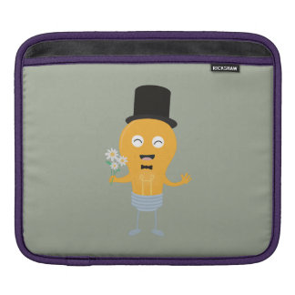light bulb groom with flowers Z4686 iPad Sleeve