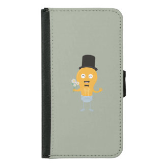 light bulb groom with flowers Z4686 Samsung Galaxy S5 Wallet Case