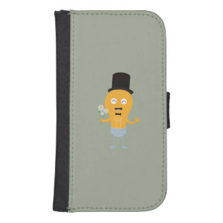 light bulb groom with flowers Z4686 Samsung S4 Wallet Case