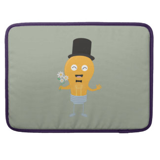 light bulb groom with flowers Z4686 Sleeve For MacBook Pro