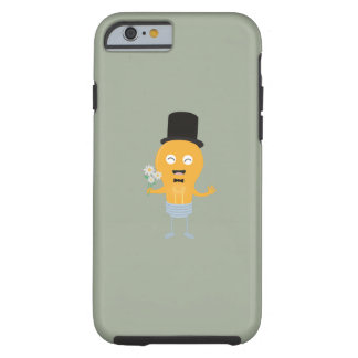light bulb groom with flowers Z4686 Tough iPhone 6 Case
