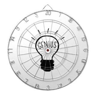 Light bulb in black and white dartboard