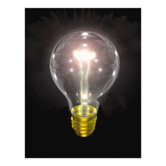 light bulb on blk 3 inch flare 21.5 cm x 28 cm flyer