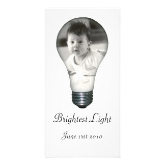 Light Bulb Photo Card