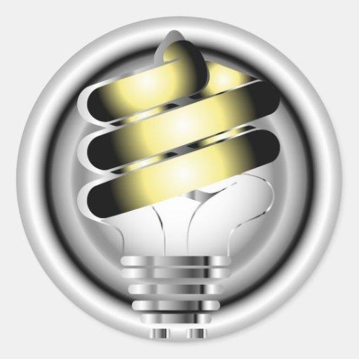 Light Bulb Round Sticker