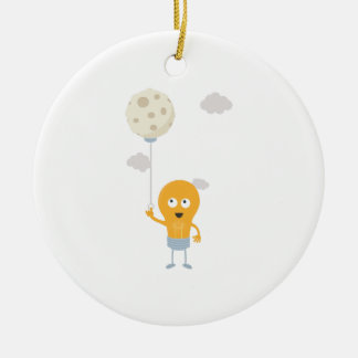 light bulb switch on the moon Ze7r4 Ceramic Ornament