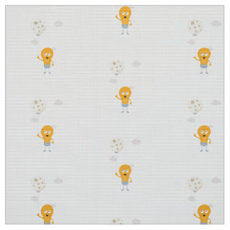 light bulb switch on the moon Ze7r4 Fabric