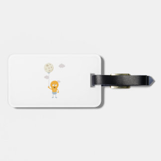 light bulb switch on the moon Ze7r4 Luggage Tag