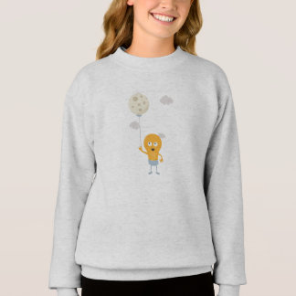 light bulb switch on the moon Ze7r4 Sweatshirt
