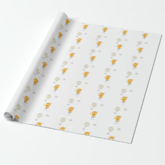 light bulb switch on the moon Ze7r4 Wrapping Paper